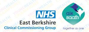 East Berkshire CCG and Aik Saath logos